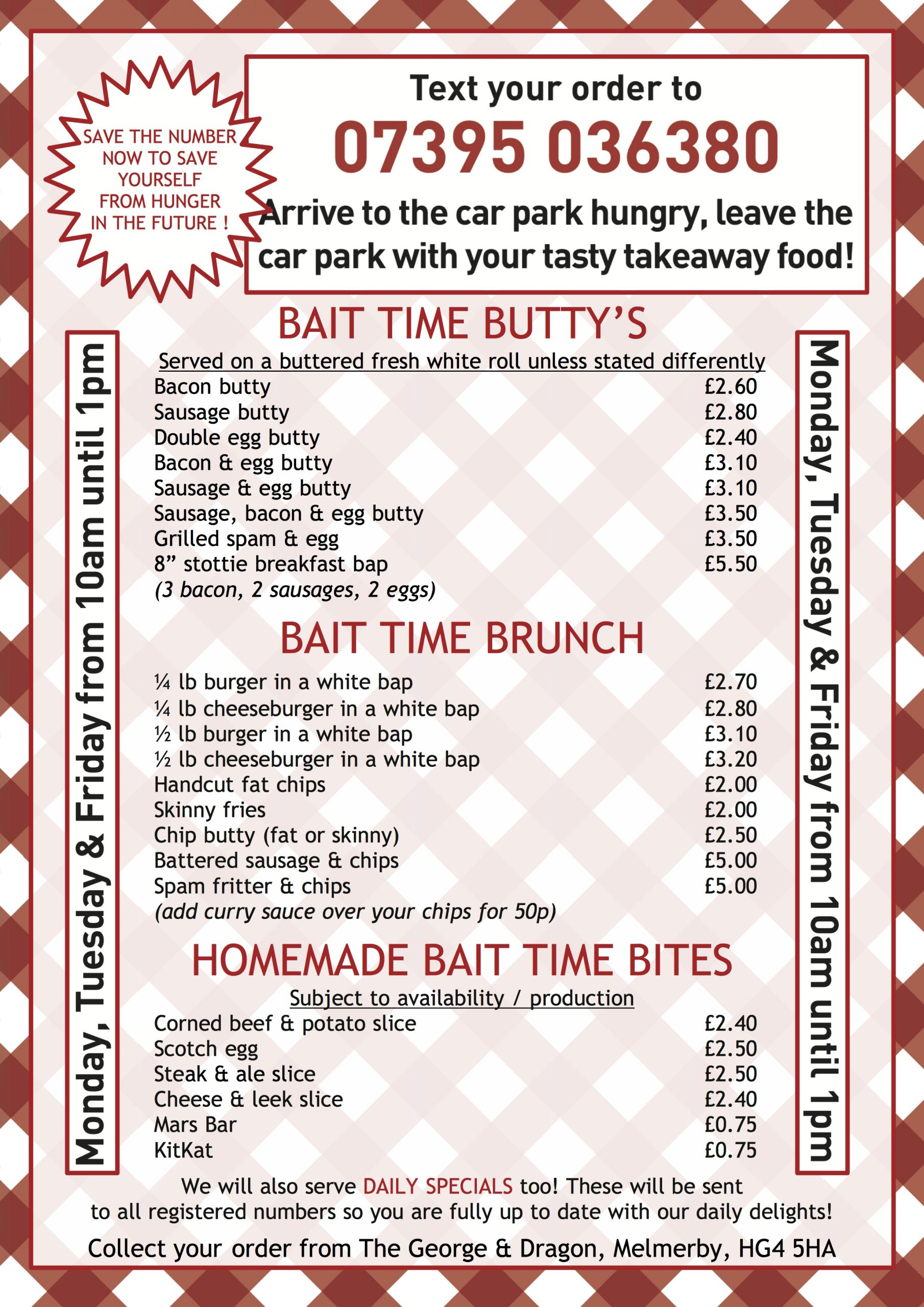Read more about the article Bait Time Menu